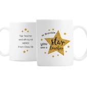 Personalised Star Teacher's Mug - Personalise It!