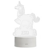 Personalised Unicorn LED Colour Changing Night Light - Personalise It!