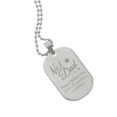 Personalised No.1 Dad Stainless Steel Dog Tag Necklace - Personalise It!