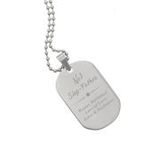 Personalised No.1 Stainless Steel Dog Tag Necklace - Personalise It!