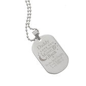 Personalised 'To The Moon & Back...' Stainless Steel Dog Tag Necklace - Personalise It!
