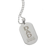 Personalised Dad Stainless Steel Dog Tag Necklace - Personalise It!
