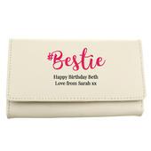 Personalised #Bestie Cream Purse - Personalise It!