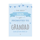 Personalised Blue Promoted to Card Add Any Name - Personalise It!