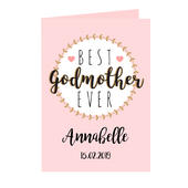 Personalised Best Godmother Card Add Any Name - Personalise It!