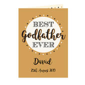 Personalised Best Godfather Card Add Any Name - Personalise It!