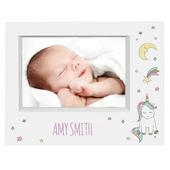 Personalised Baby Unicorn 7x5 Landscape Box Photo Frame - Personalise It!