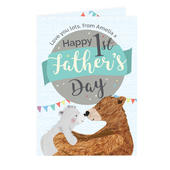 Personalised 1st Father's Day Daddy Bear Card Add Any Name - Personalise It!