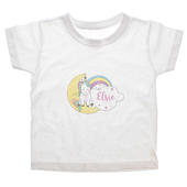 Personalised Baby Unicorn T shirt 3-4 Years - Personalise It!