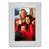 Personalised First My Mum...4x6 Silver Photo Frame - Personalise It!