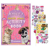 Personalised Rachael Hale Adorable Animals Activity Book With Stickers - Personalise It!
