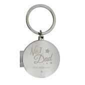 Personalised No.1 Dad Photo Keyring - Personalise It!