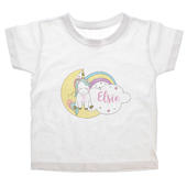 Personalised Baby Unicorn T shirt 1-2 Years - Personalise It!