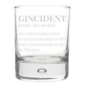 Personalised Gincident Tumbler Bubble Glass - Personalise It!