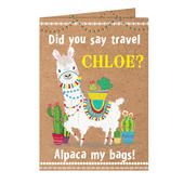 Personalised Llama Card Add Any Name - Personalise It!