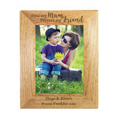 Personalised First My Mum Forever My Friend 5x7 Wooden Photo Frame - Personalise It!