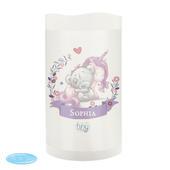 Personalised Tiny Tatty Teddy Unicorn Nightlight LED Candle - Personalise It!