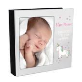 Personalised Baby Unicorn 4x6 Photo Frame Album - Personalise It!
