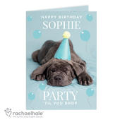 Personalised Rachael Hale 'Party 'Til You Drop' Card Add Any Name - Personalise It!