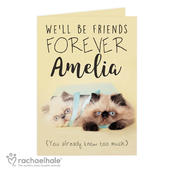 Personalised Rachael Hale Friends Forever Card Add Any Name - Personalise It!