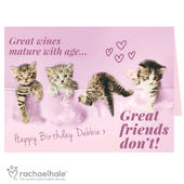 Personalised Rachael Hale 'Great Friends' Card Add Any Name - Personalise It!