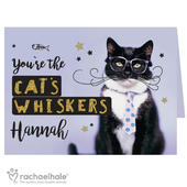 Personalised Rachael Hale Youre the Cats Whiskers Card Add Any Name - Personalise It!