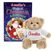 Personalised Magical Christmas Adventure Story Book and Personalised Teddy Bear - Personalise It!