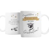 Personalised Gold Star Graduation Mug - Personalise It!