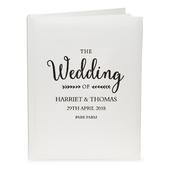 Personalised Rustic Wedding Traditional Album - Personalise It!
