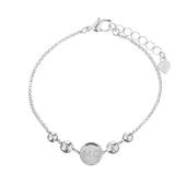 Personalised Silver Plated Initials Disc Bracelet - Personalise It!