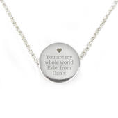 Personalised Any Message Disc Necklace - Personalise It!