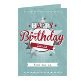 Personalised 50s Retro Card Add Any Name - Personalise It!