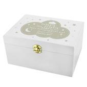 Personalised Twinkle Twinkle White Wooden Keepsake Box - Personalise It!