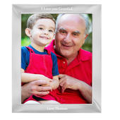 Personalised Any Message 8x10 Silver Photo Frame - Personalise It!