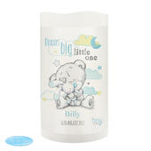 Personalised Tiny Tatty Teddy Dream Big Blue Nightlight LED Candle - Personalise It!
