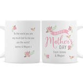 Personalised Floral Bouquet Mothers Day Mug - Personalise It!