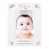 Personalised Floral Bouquet Mothers Day 4x6 Photo Frame - Personalise It!