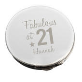 Personalised Fabulous Birthday Big Age Compact Mirror - Personalise It!