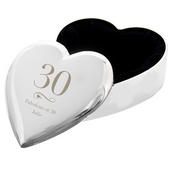 Personalised Birthday Big Age Heart Trinket Box - Personalise It!