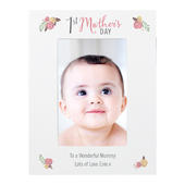 Personalised Floral Bouquet 1st Mothers Day 4x6 Photo Frame - Personalise It!