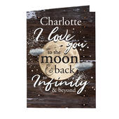 Personalised To the Moon & Infinity... Card Add Any Name - Personalise It!