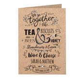 Personalised We Go Together Like... Card Add Any Name - Personalise It!