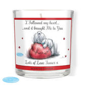 Personalised Me To You Heart Scented Jar Candle - Personalise It!