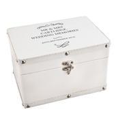 Personalised Antique Scroll White Leatherette Keepsake Box - Personalise It!