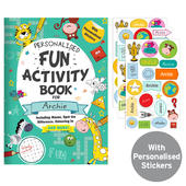 Personalised Activity Book with Stickers - Personalise It!