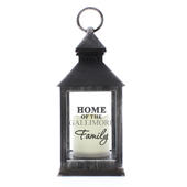 Personalised The Family Rustic Black Lantern - Personalise It!