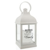 Personalised The Family White Lantern - Personalise It!