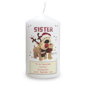 Personalised Boofle Christmas Reindeer Candle - Personalise It!