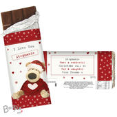 Personalised Boofle Christmas Love Milk Chocolate Bar - Personalise It!