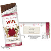 Personalised Boofle Shared Heart Milk Chocolate Bar - Personalise It!